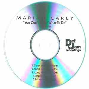 Mariah Carey Feat. Wale - You Don't Know What To Do download album