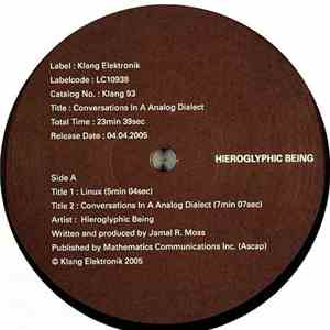 Hieroglyphic Being - Conversations In A Analog Dialect download album